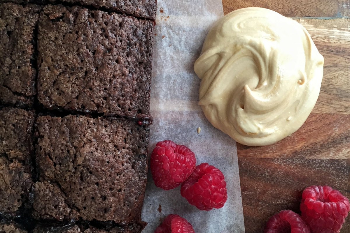 Raspberry Chocolate Pocket Brownies with Balsamic Mascarpone