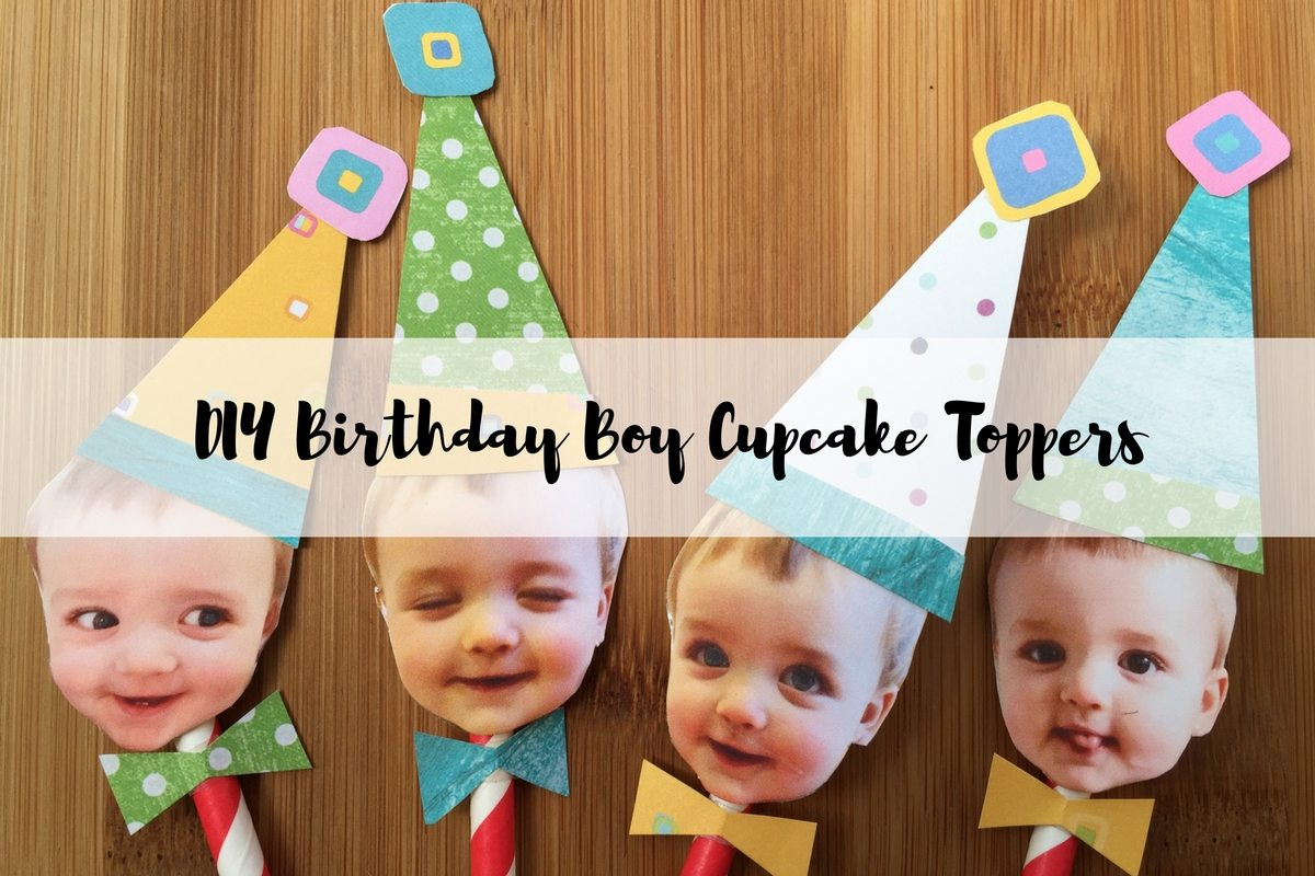Simple But Adorable: DIY Birthday Boy Cake Toppers