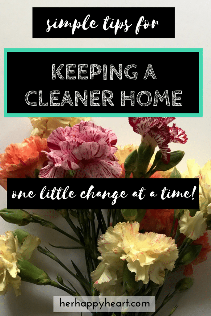 Tips for Keeping a Clean(er) House | Allergic to cleaning? Overwhelmed by the state of your house? This post goes out to all the home makers who love the idea of a cleaner house, but don't know where to start. We've got you covered. Come check out our simple tips!