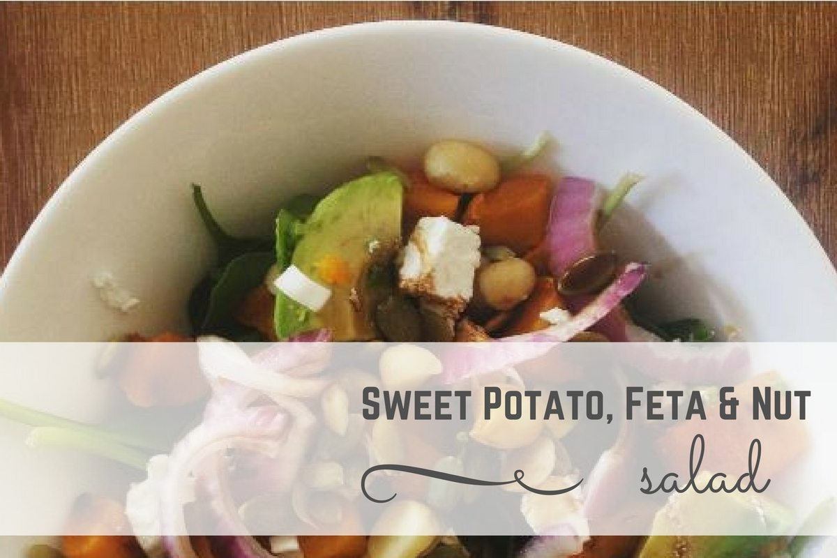Throw-it-Together Sweet Potato, Feta & Nut Salad