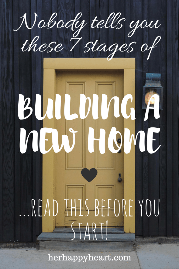 The 7 Stages of Building a New Home | Thinking of building? Plans already underway? Wherever you are in your house building journey, these 7 stages apply to you!