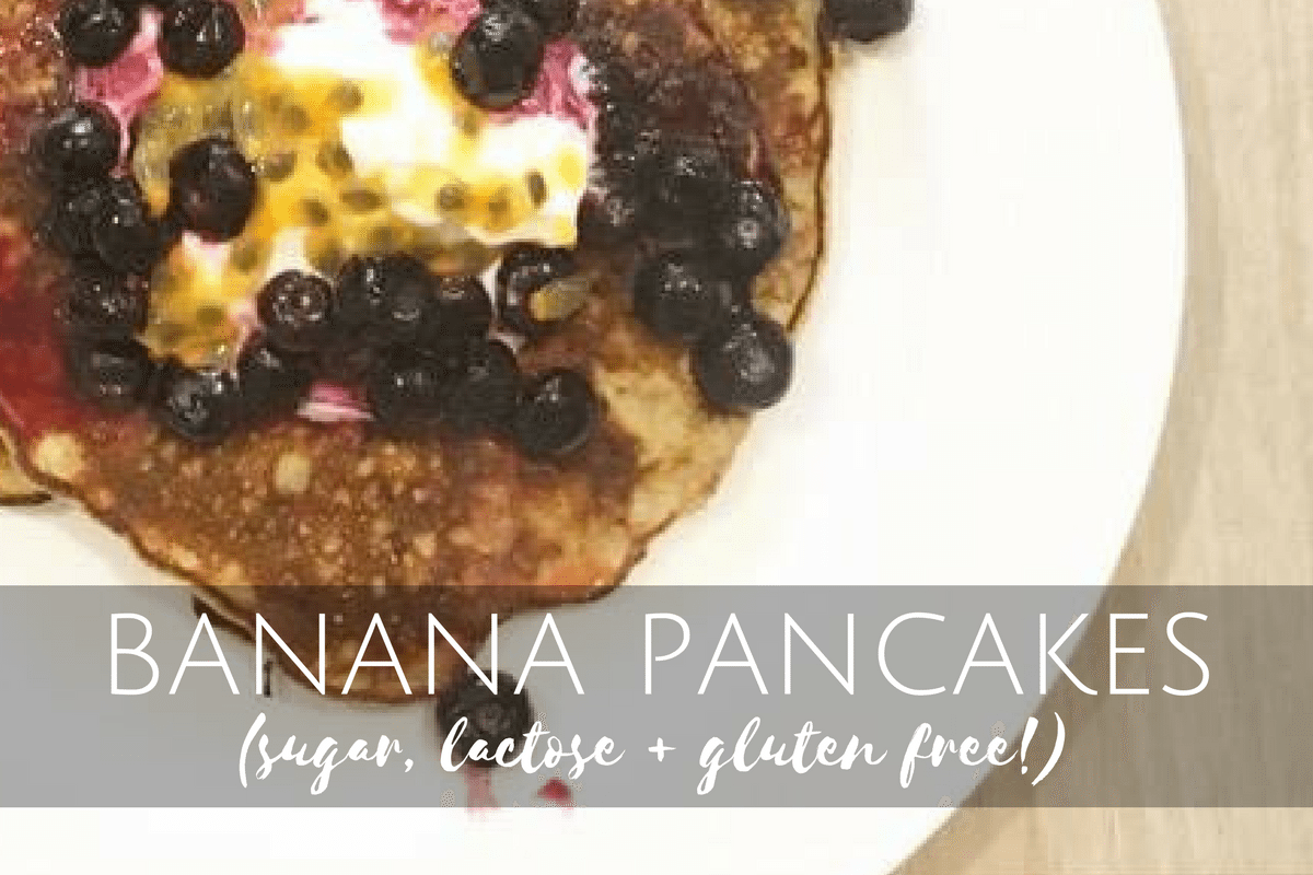 Banana Pancakes the Healthy Way (Sugar, lactose AND gluten-free!)
