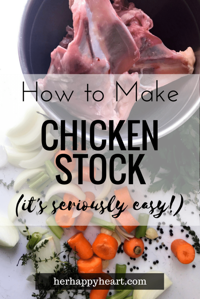 Make Your Own Chicken Stock | Have you made your own stock before? If you thought it was time consuming and difficult, think again! Stove top chicken stock is easy, healthy, and tastes a lot better than store-bought. It's win-win-win!