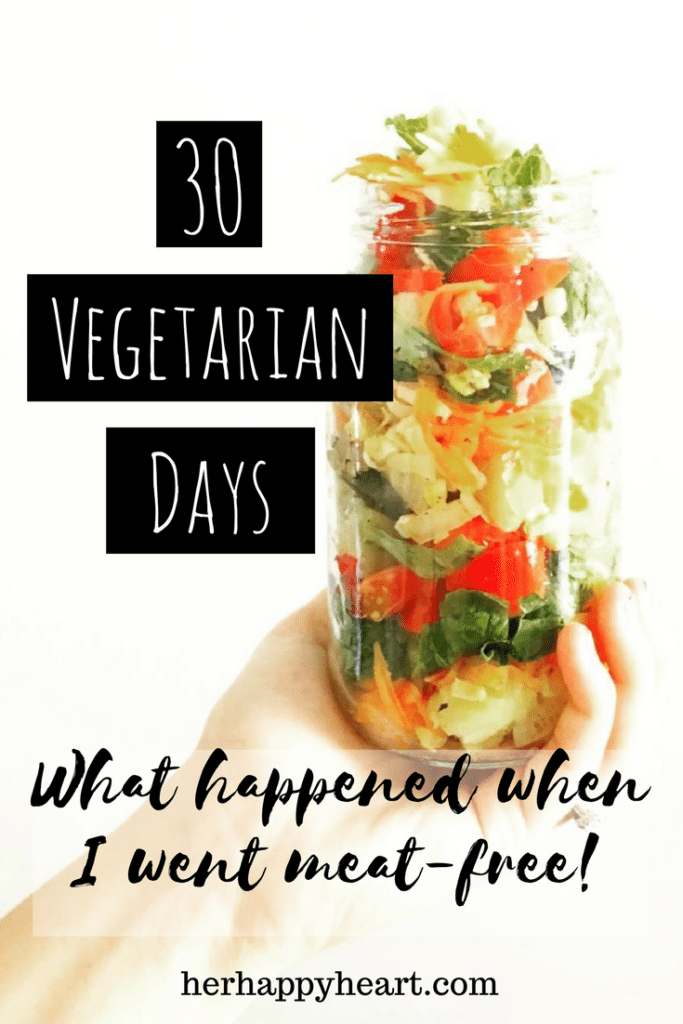 30 Vegetarian Days: What Happened When I Went Meat-Free | Going vego isn't as easy as it sounds! Check out my honest account (and no, my husband was NOT on board!)