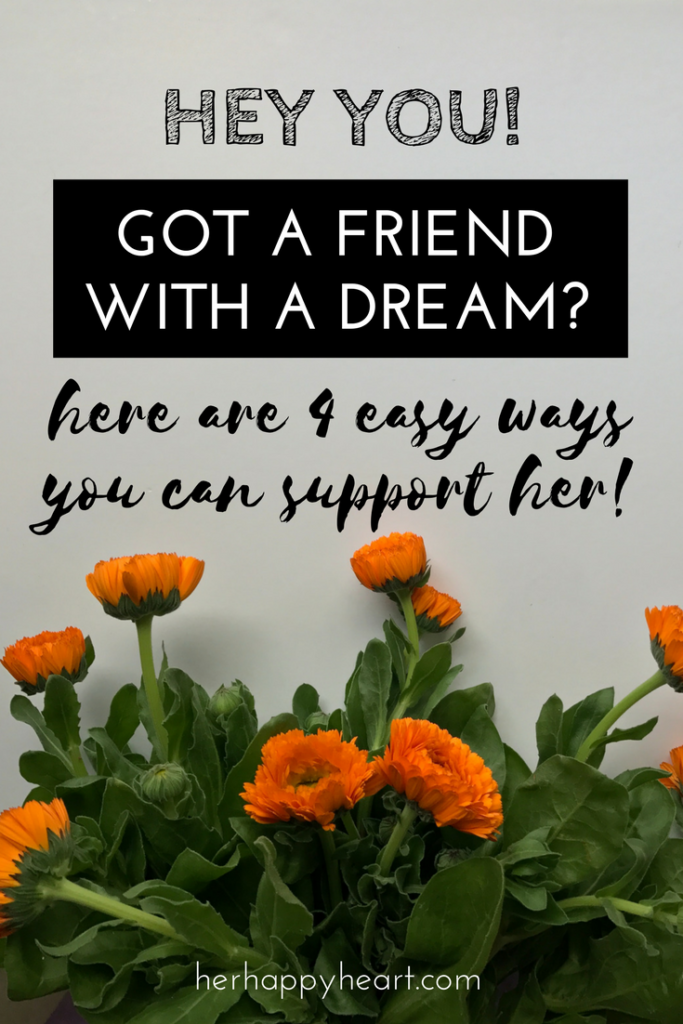 You Can Sow Into Other People's Dreams (Yes, YOU!) | Our dreams are precious to us - but very few people achieve their dreams do so alone. If you have a friend with a dream, you need to read this. If you're the one with a dream - your friends need to read this! We all need support wherever we can get it!