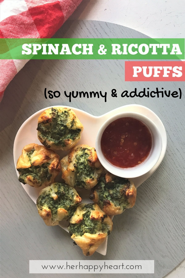 Spinach and Ricotta Puffs Recipe | Vegetarian Appetizers and Party Snack Food | Pastry finger food recipes