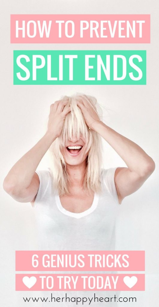 Preventing Split Ends - 6 Genius Tricks To Try | #hairtips #beautytips #summerhair | healthy hair and split ends repair DIY tips, routines, hacks and remedies