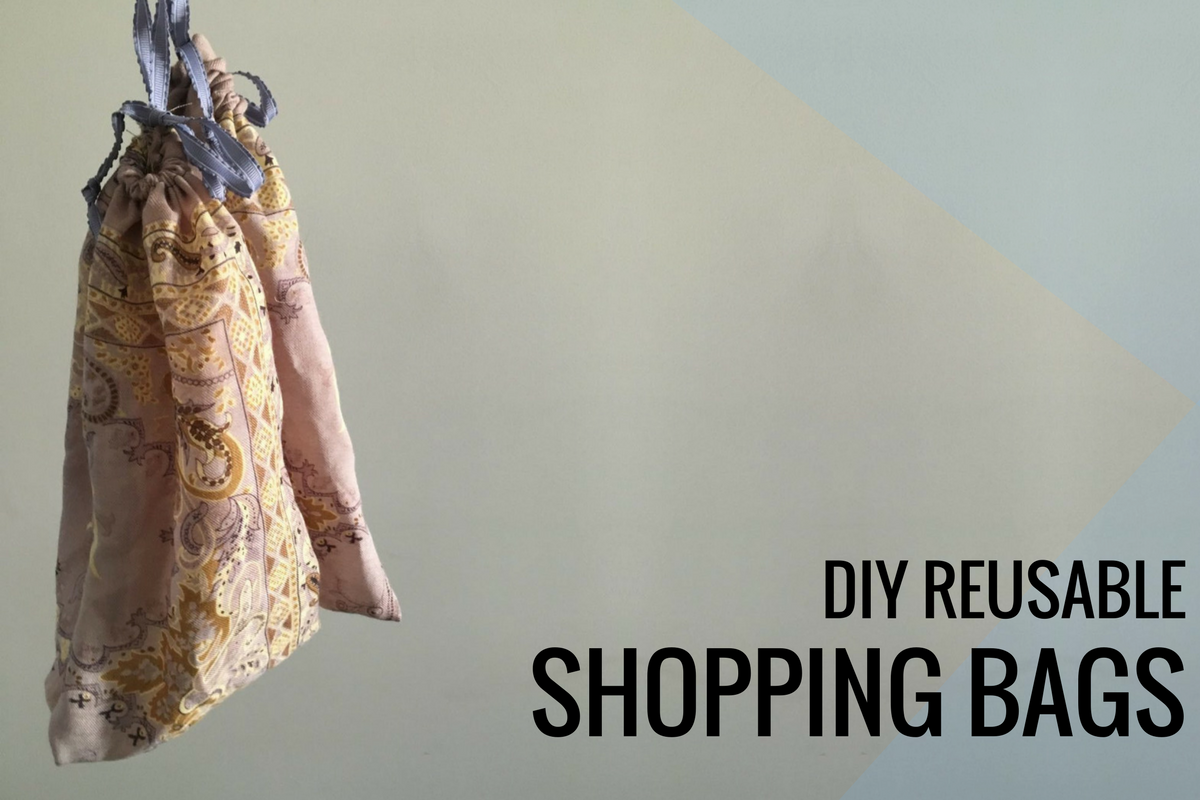 DIY Reusable Grocery Bags (Eco Friendly & Great for Reducing Plastic!)