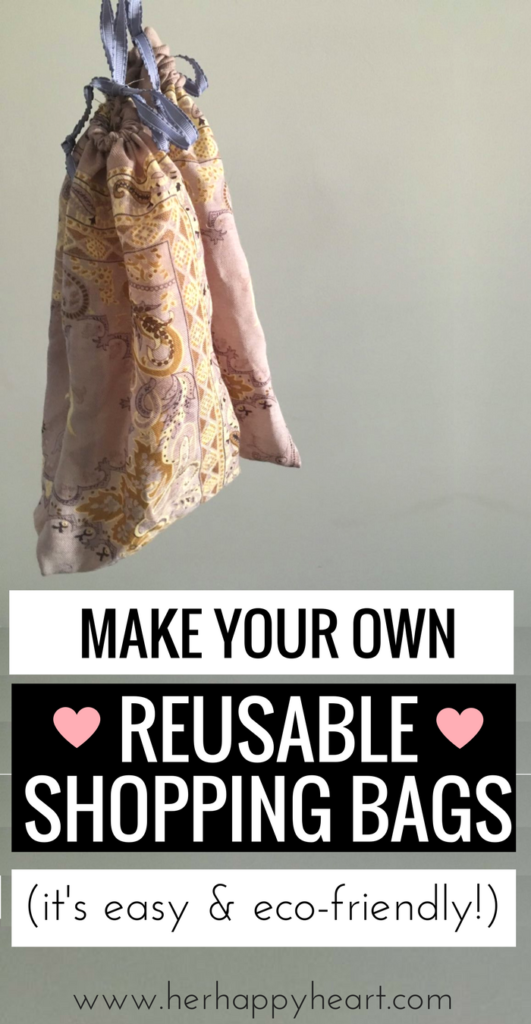 DIY Reusable Grocery Bags (Eco Friendly & Great for Reducing Plastic!) | #ecofriendly #reduceplastic #reducewaste #DIY | reusable grocery bags | reusable bags DIY | DIY grocery bags | project restyle | upcycling | upcycle clothes DIY | eco friendly home | eco friendly living | reduce waste | reduce plastic