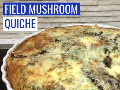 Field Mushroom Quiche Recipe