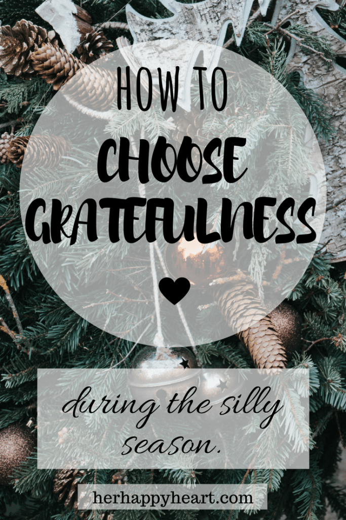 I Went Christmas Shopping and All I Got Was This Lousy Exhaustion | It's easy to get caught up in Christmas stress, but remember the reason for the season - and choose gratefulness instead!