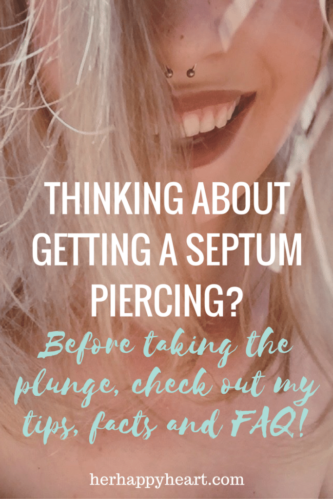 The Girl with the Septum Piercing - thoughts tips and FAQ