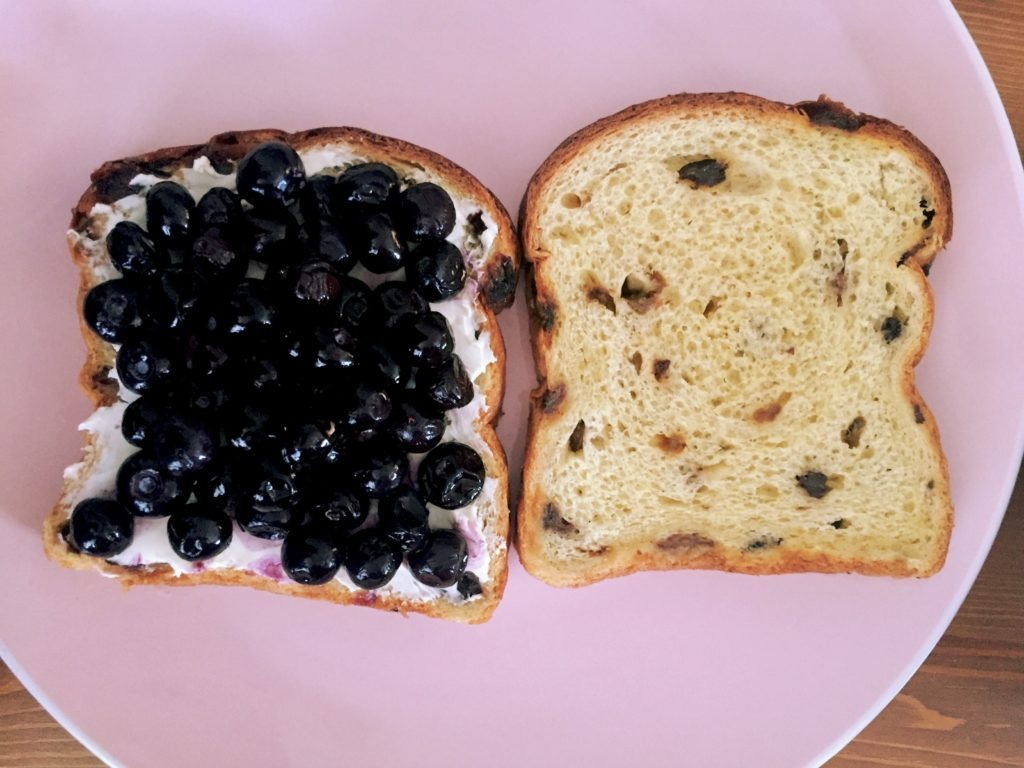 Blueberry Brioche Waffled French Toast