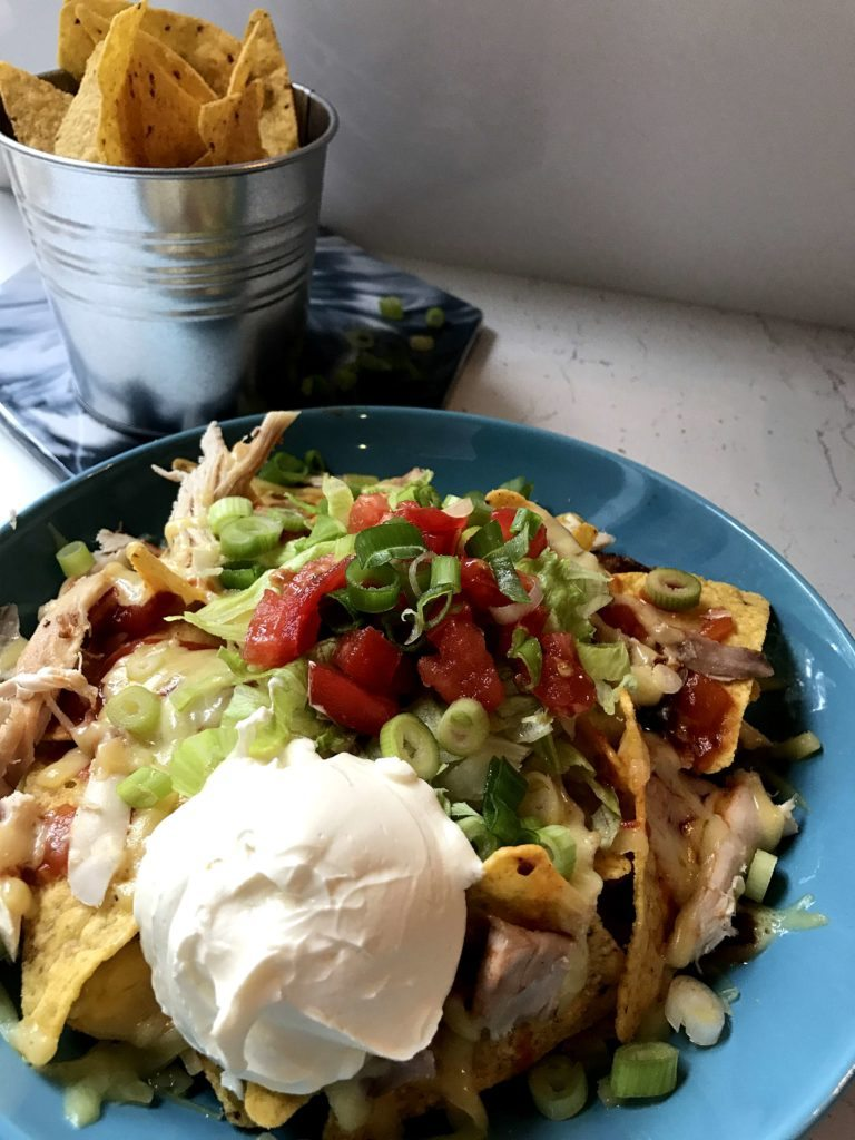 10 Minute Chicken Nachos
