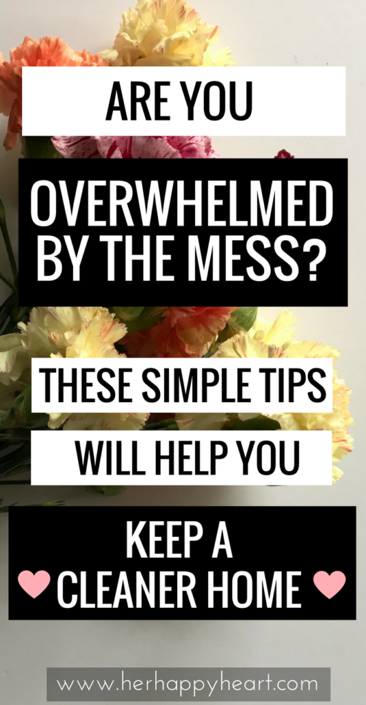 Tips for Keeping a Clean(er) House | Allergic to cleaning? Overwhelmed by the state of your house? We've got you covered. Come check out our simple tips! | Home making tips | Cleaning tips | Cleaning schedule