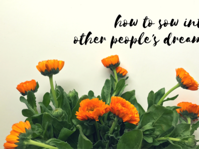 You Can Sow Into Other People's Dreams (Yes, YOU!)