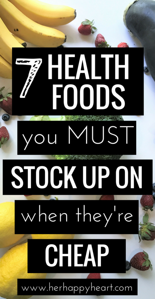 Healthy, Frugal Shopping: 7 Health Foods You Should Always Stock Up On When They're Cheap | Healthy eating tips and tricks at the supermarket | How to eat healthy | Healthy eating ideas | Healthy Eating Motivation | Healthy Eating on a budget
