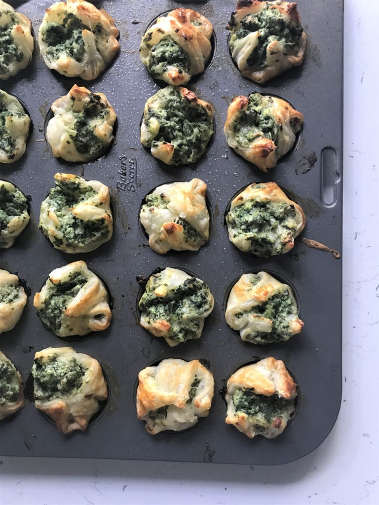 Rustic Spinach Ricotta Puffs (they're Italian-approved!)