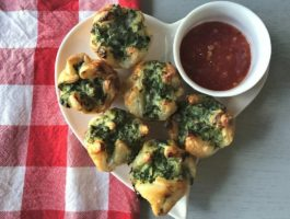 Rustic Spinach and Ricotta Puffs (they're Italian-approved!)