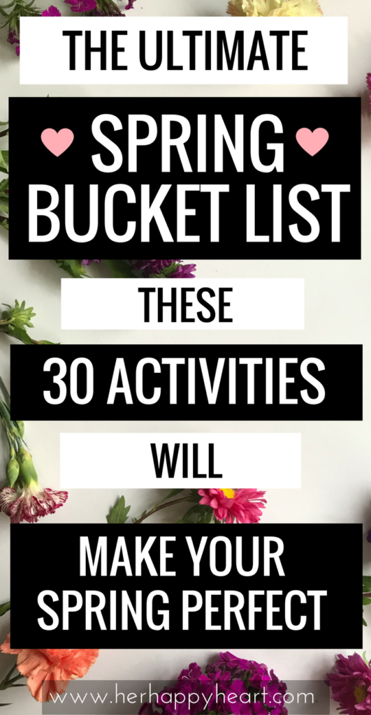 The ULTIMATE Spring Bucket List (+ a pretty printable for you!) | Welcome warm, sunny days with this awesome Spring bucket list | Springspiration | Spring Inspired | An inspired life