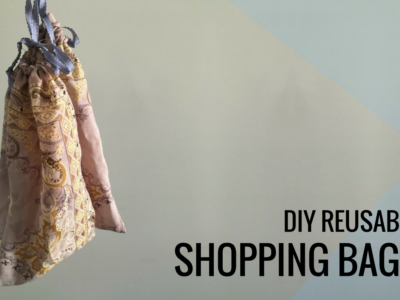 DIY Reusable Shopping Bags (Eco Friendly & Great for Reducing Plastic!)