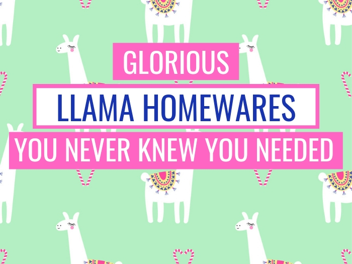 13 Glorious Llama Homewares You Never Knew You Needed