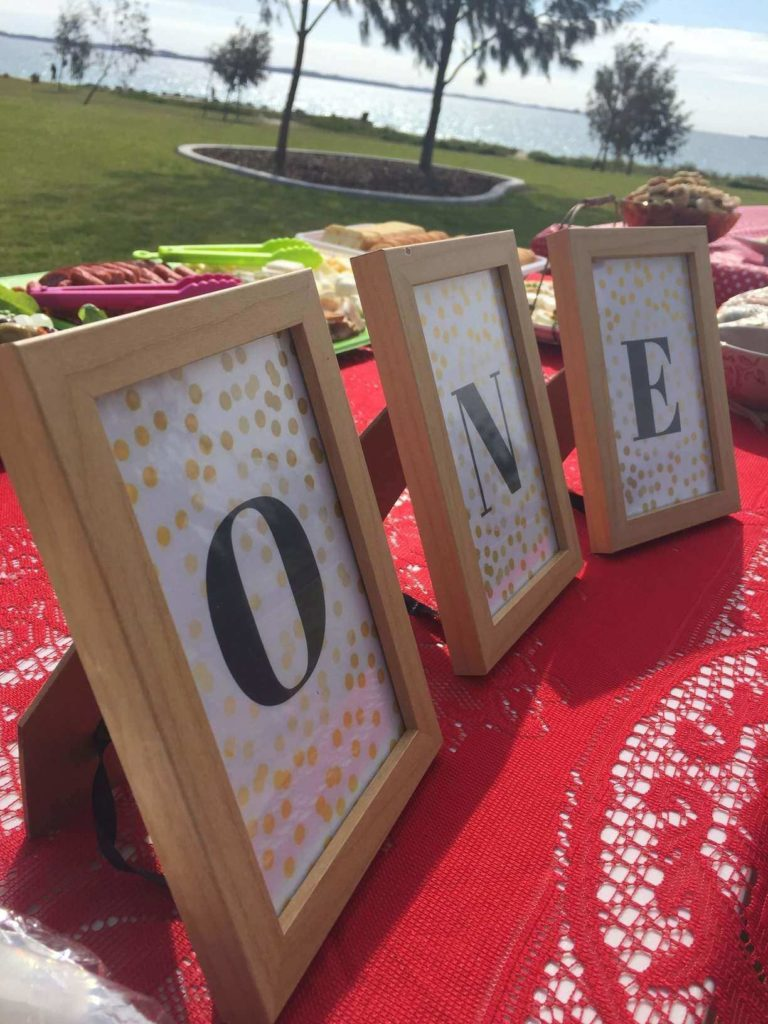 Birthday party picture frames