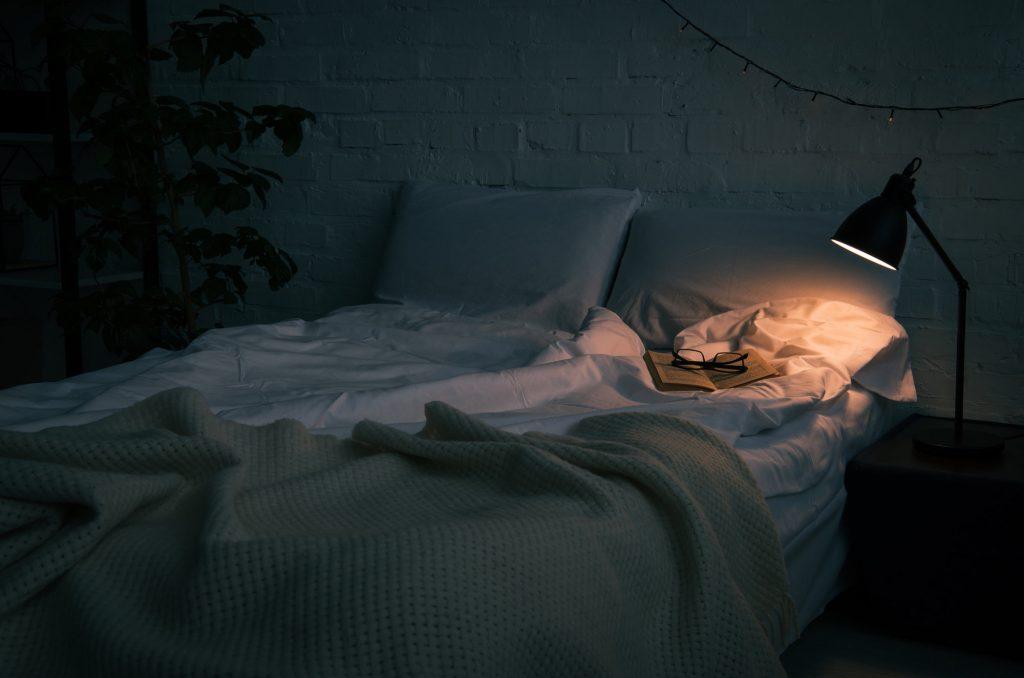 Cozy dark bedroom