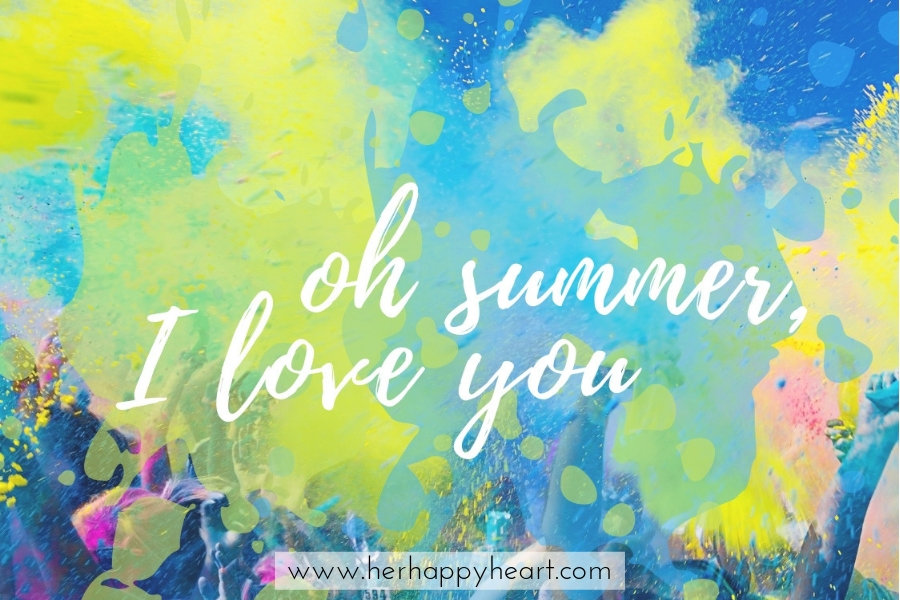 Oh Summer, I love you | Free Printable for Summer | Summer quotes | Summer aesthetic and vibes | First day of Summertime