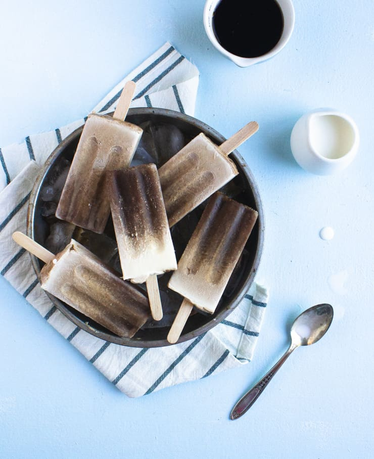 Cold brew mocha popsicles