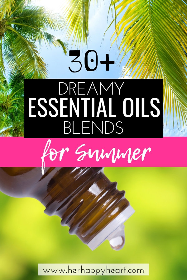 Summer essential oils diffuser recipes and blends | DoTerra and Young Living essential oils natural blends ideas for Summer | Healthy Summer lifestyle and home ideas | Summer wellness