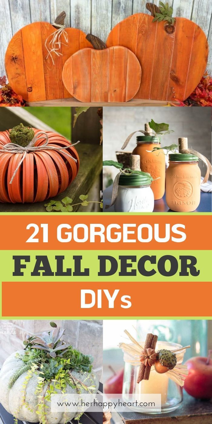 Fall decor and pumpkin craft ideas DIY on a budget | Fall crafts and home decor | Autumn decor for Halloween and Thanksgiving | Fall seasonal aesthetic decorations and crafts | Fall vibes | Cute modern Fall centrepieces that are cosy and cheap