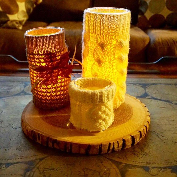 DIY Sweater Candles