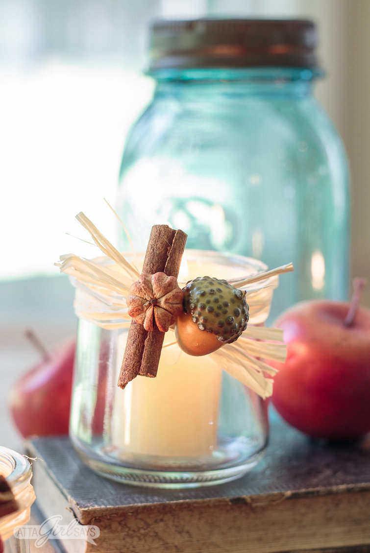 Glass Yogurt Jar Candle Holder
