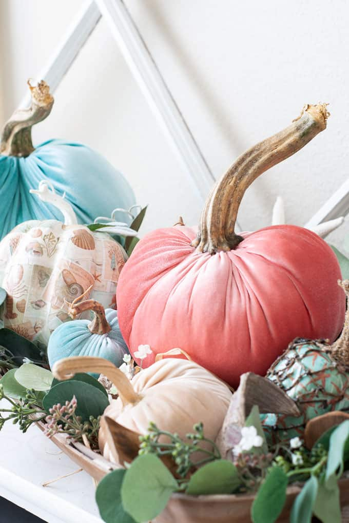DIY Fall Decor Velvet Pumpkins
