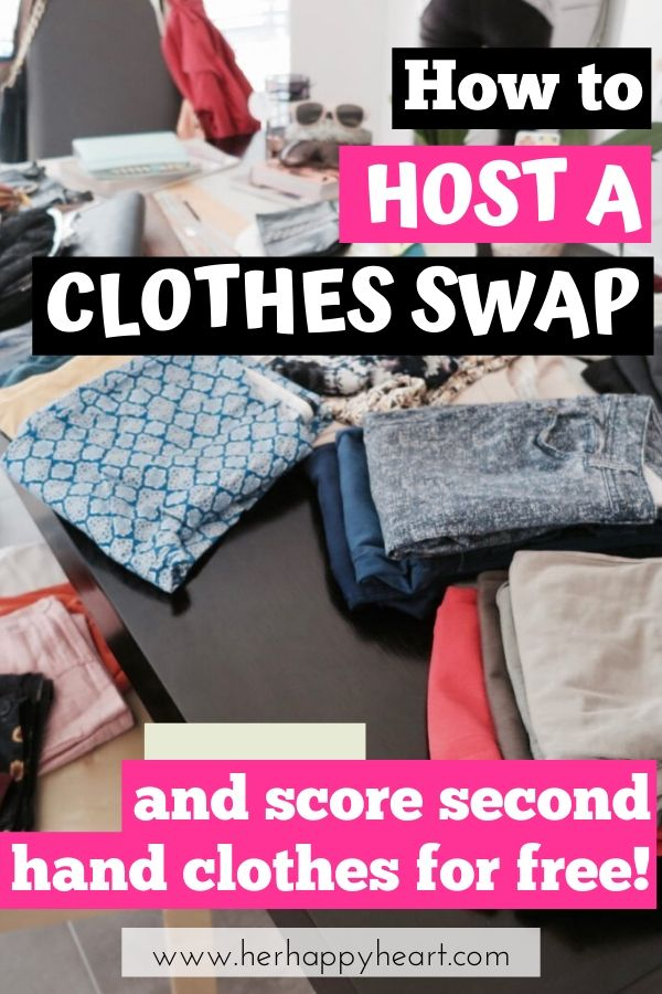 Clothing swap party and event set up tips, guidelines and rules | Sustainable secondhand fashion ideas | Budget friendly fashion tips | low waste lifestyle | reduce carbon footprint tips | Secondhand fashion