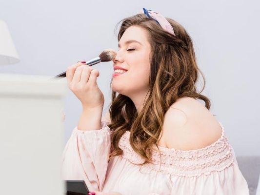 Woman enjoying makeup as a self-care hobby